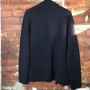 Banana Republic Sweaters - Banana Republic Full Zip Merino Wool Navy Sweater
